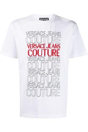 VERSACE Logo-print crew-neck T-shirt