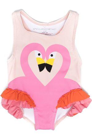 Stella McCartney Baby Swimsuits - Flamingo-print swimsuit