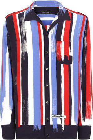Dolce & Gabbana Stripe-print silk shirt