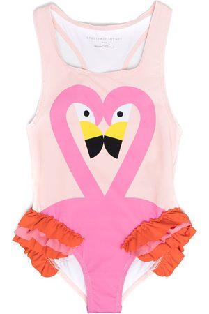 Stella McCartney Girls Swimsuits - Flamingo-print swimsuit