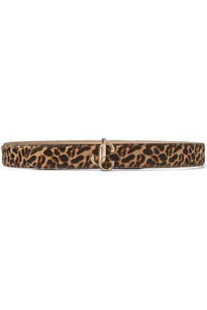 Jimmy Choo Felisa leopard print buckle belt
