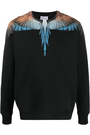 MARCELO BURLON Men Sweatshirts - Wings print crew neck sweatshirt