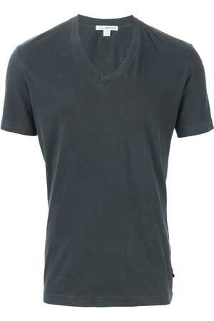 James Perse Men T-shirts - V-neck T-shirt - Grey
