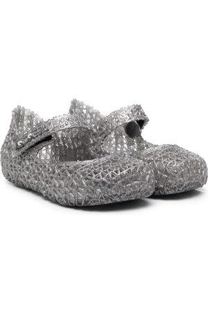 Mini Melissa Cut-out design ballerina shoes - Grey