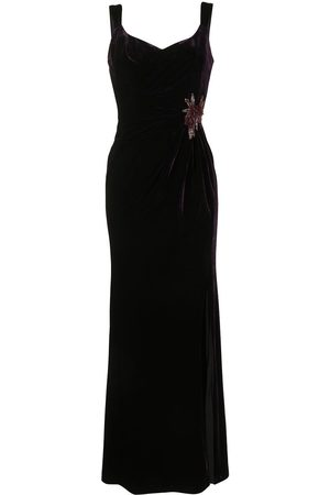 Marchesa Notte Women Sleeveless Dresses - Sleeveless V-neck draped gown
