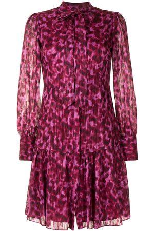 Marchesa Notte Women Party Dresses - Leopard print buttoned dress