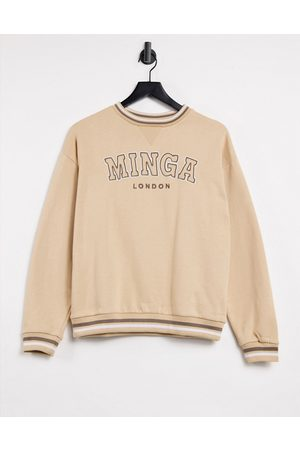 Minga London oversized sweatshirt with London logo graphic