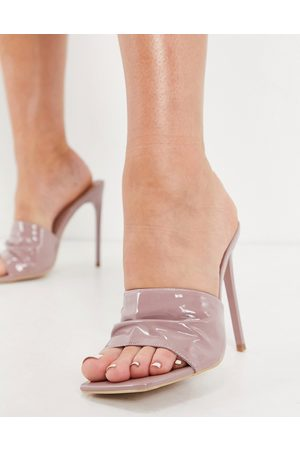 SIMMI Shoes Simmi London Samia ruched mules in pale pink
