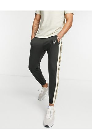 SikSilk Premium tape track pants in and white