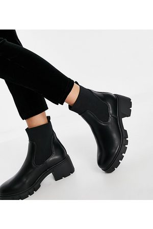 ASOS Wide Fit Robbie chunky chelsea boots in