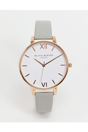 Olivia Burton Leather watch in and rose gold-Grey