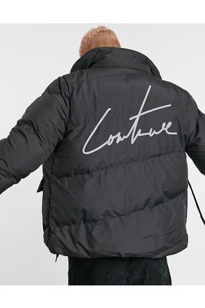 The Couture Club Essential signature puffer coat with back logo in