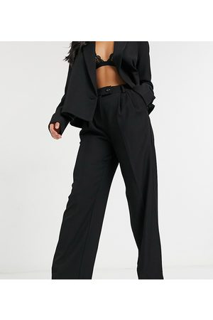 Y.A.S Suit wide leg pants with tab button up waist in