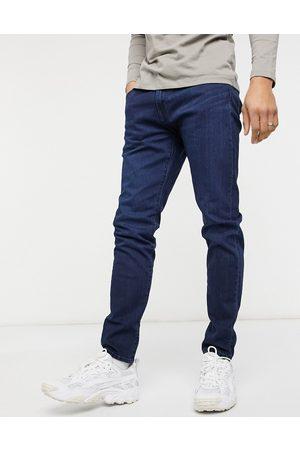 Levi's 512 slim taper fit jeans in laurelhurst feelin dark overdye-Blues