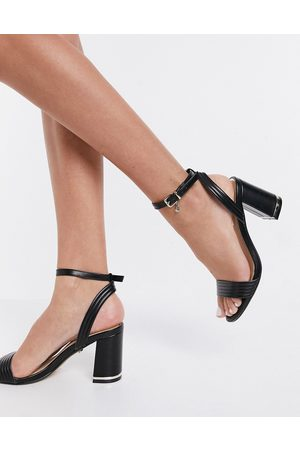 Office Maisie block heeled sandals in leather