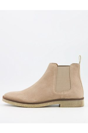WALK LONDON Hornchurch chelsea boots in suede-Neutral