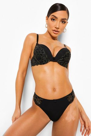 Boohoo Women Thongs - Womens Glitter Lace Thong - - S