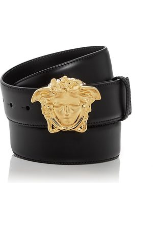 VERSACE Men's Medusa Buckle Leather Belt
