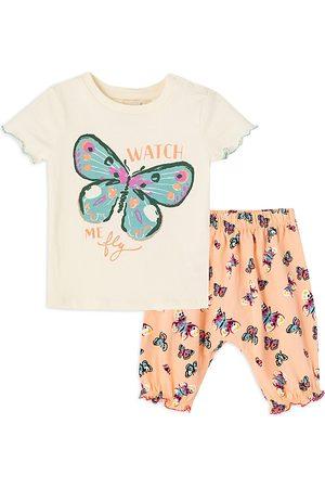 Peek Kids Girls' Butterfly Pants Set - Baby