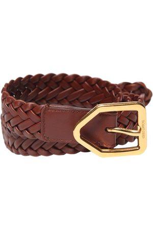 Tom Ford Men Belts - 25mm Lozenge Buckle Leather Belt