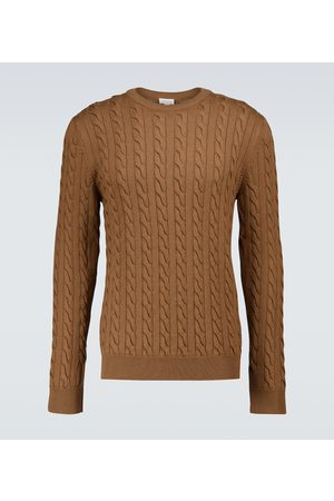 Sunspel Merino wool cable-knitted sweater
