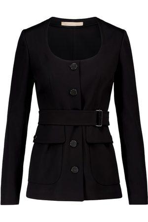 Alaïa Belted cotton gabardine jacket