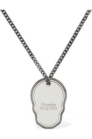 Alexander McQueen Skull Tag Long Necklace