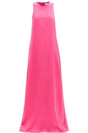 Raey Seam-detail Trapeze Maxi Dress - Womens - Fuchsia
