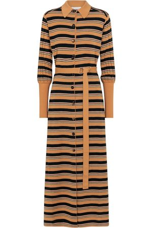 Chloé Striped wool-blend shirt dress