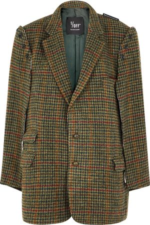 1/OFF Paris Women Blazers - Houndstooth cape-effect wool blazer