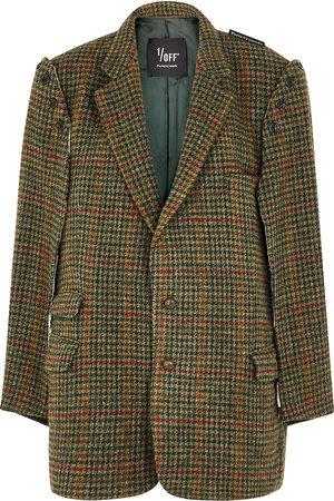 1/OFF Paris Women Blazers - Houndstooth cape-effect wool blazer