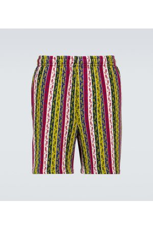 BODE Primary striped merino shorts
