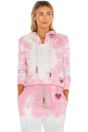 LOVESHACKFANCY Kirby Hoodie in Pink.