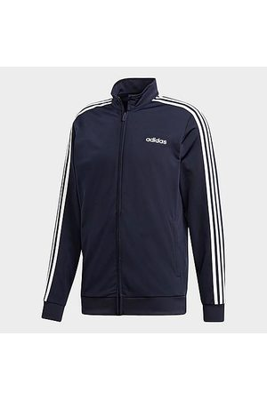 adidas Men's Essentials 3-Stripes Tricot Track Jacket in /Dark