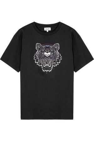 Kenzo Women T-shirts - Tiger-print cotton T-shirt