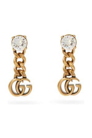 Gucci Women Earrings - GG Crystal-embellished Drop Earrings - Womens - Crystal