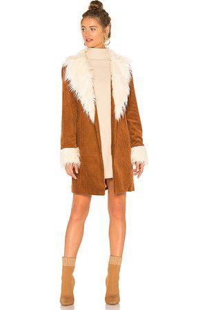 Show Me Your Mumu Women Coats - Penny Lane Coat in Cognac.
