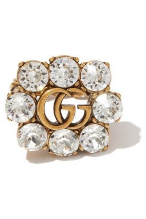 Gucci Women Rings - GG Crystal-embellished Ring - Womens - Crystal