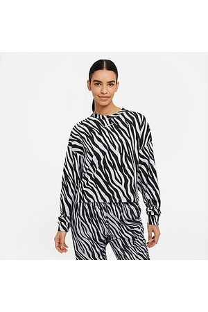 Nike Women's Sportswear Icon Clash Animal Print Crew Sweatshirt in / / Chalk