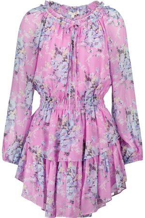 LOVESHACKFANCY Popover floral minidress
