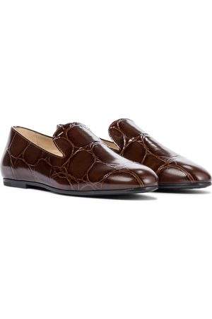 Tod's Croc-effect leather loafers