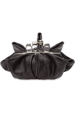 Alexander McQueen Leather Four Ring Clutch