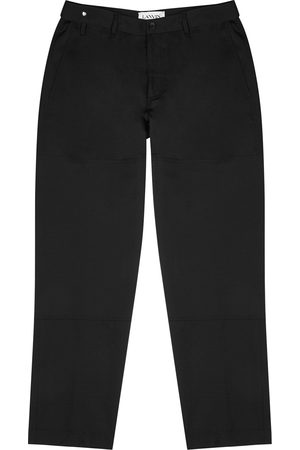 Lanvin Men Tapered - Tapered-leg wool trousers