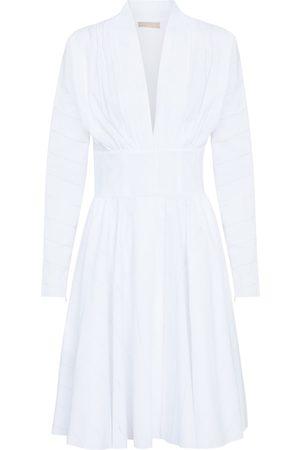 Alaïa Ruched cotton poplin minidress