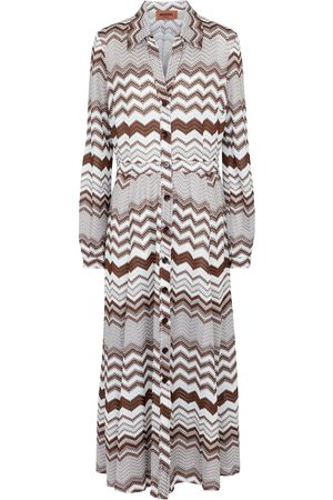 Missoni Zigzag knit shirt dress