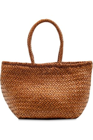 DRAGON DIFFUSION Grace Small Woven Leather Basket Bag