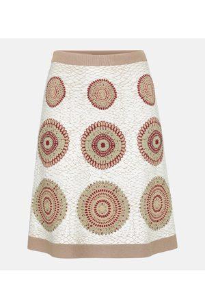 Alaïa Jacquard stretch-knit miniskirt