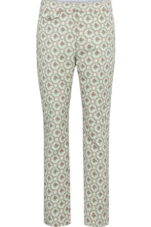 Paco rabanne Floral low-rise straight pants