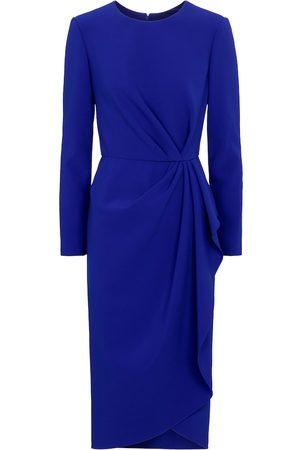 Carolina Herrera Silk-blend crêpe midi dress