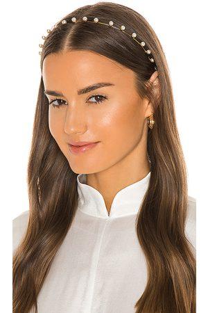 Jennifer Behr Iris Pearl Headband in White.